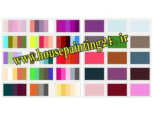 نقاشی ساختمان ترکیب رنگ
